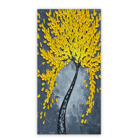 Hot sales products hand made abstract metal wall art tree relief painting