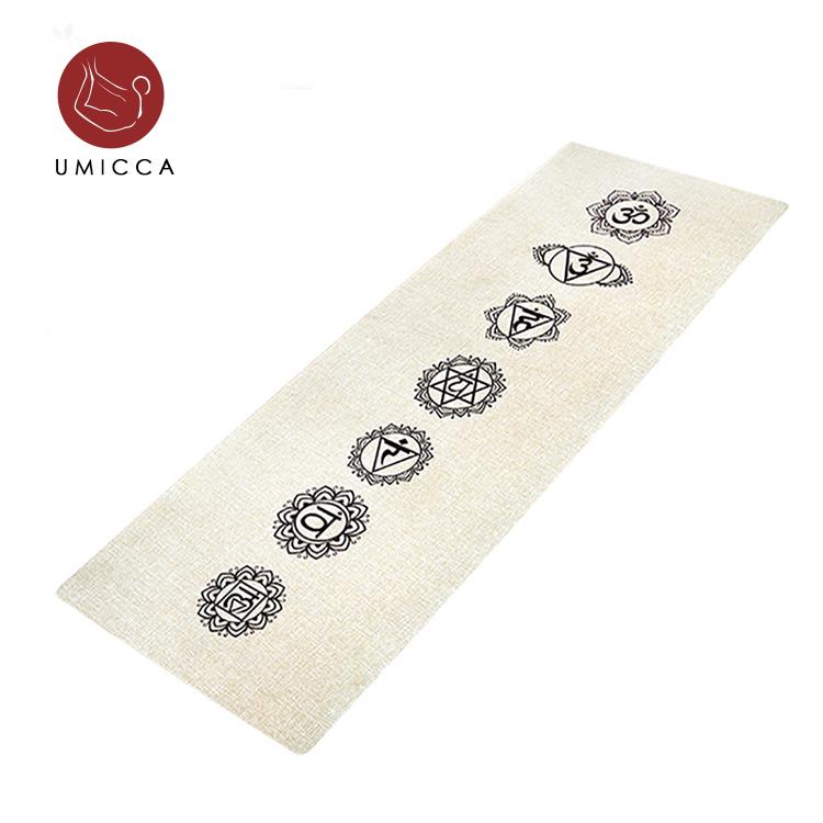 100 Pu Tapis De Natural Rubber Linen Jute Yoga Mat Buy Linen