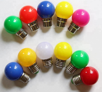 1W decoration PC cover E27/B22 with belt light globe led colour bulb