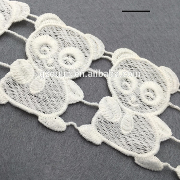 Poly milk silk lace cheap price material milk silk different colors can be customized water soluble lace
