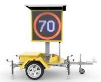 G042508 Led Radar Signs Road Safety Trailer Mounted Solar Powered Variable Digital Traffic Speed Limit Signs