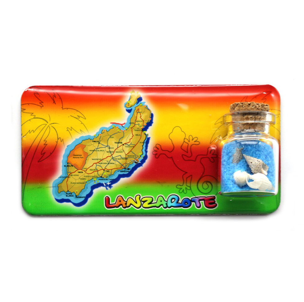 Spanish islands Gran canaria/Fuerteventura/Tenerife/Lanzarote travel souvenirs <strong>photo</strong> epoxy <strong>magnets</strong> with bottle
