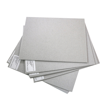FSC 1mm grey card board laminated cardboard paper sheet for gold foil cake bases book cover grey board