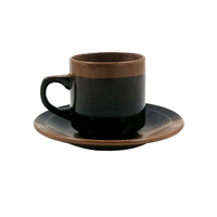 12 pcs round ceramic tea coffee cup and saucer