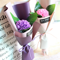 Factory price artificial rose single soap flower carnation gift for Mother's day