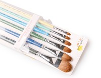 Hot sale Filbert Bristle Hair Colorful Wooden Handle Oil Paint Brush Artist Painting Brushes