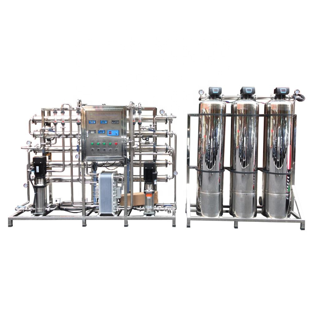 1000 LPH Full Automatic Full stainless steel ro water treatment distilled pure water machine price