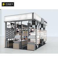 Fashion Design Mall Wooden Sunglasses Kiosk Stand Showcase Display