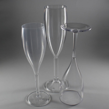 Customized Wholesale Wedding Party Goblet Wine Coupe Plastic Champagne Flutes Clear Crystal Champagne Glasses