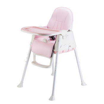 Dining table chair with cushion Adjustable Baby Seat Feeding Folding Chair Plastic for kids Children's dining chair