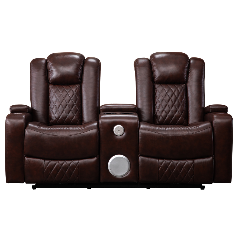 Pleasant Luxury Genuine Leather Loveseat Recliner With Bluetooth Sofa Gmtry Best Dining Table And Chair Ideas Images Gmtryco