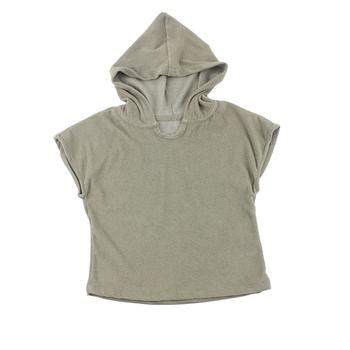1bc01debad58 children organic tops hoodie terry cotton brown long sleeve coat top kids  hooded tshirt