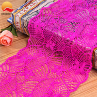 2019 Clothing accessories chemical nylon stretch border lace trim E2514 17cm