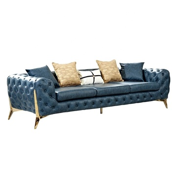 Europe modern chesterfield leather sofa set