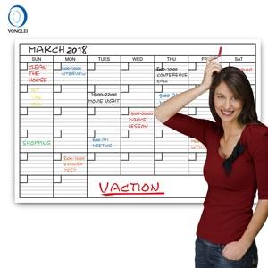 Premium Dry Erase Calendar Planner Monthly Wall Calendar 2019 Calendar 36X48 Inch 001-01-5B1