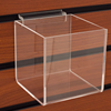 Modern Slatwall Square Shaped Clear Acrylic Perspex Candy Bin