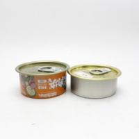 empty food grade caviar tin can container for tuna canning T-85N