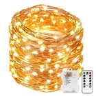 100 LED Battery Operated Fairy Light With 8 Modes Timer Christmas Decoration Copper String Lights