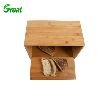 Home Kitchen Bamboo Bread Bin.100% Natural Wooden Bamboo Lid Vintage Bamboo Bread Storage Box.