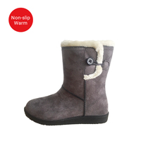 Fashion Outdoor Waterproof Canadian Snow Boots Cheap Warm Fur Suede Winter Women Shoes