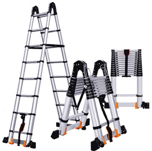 Multi-purpose telescopic ladder Platform Step Movable Stairs Ladder