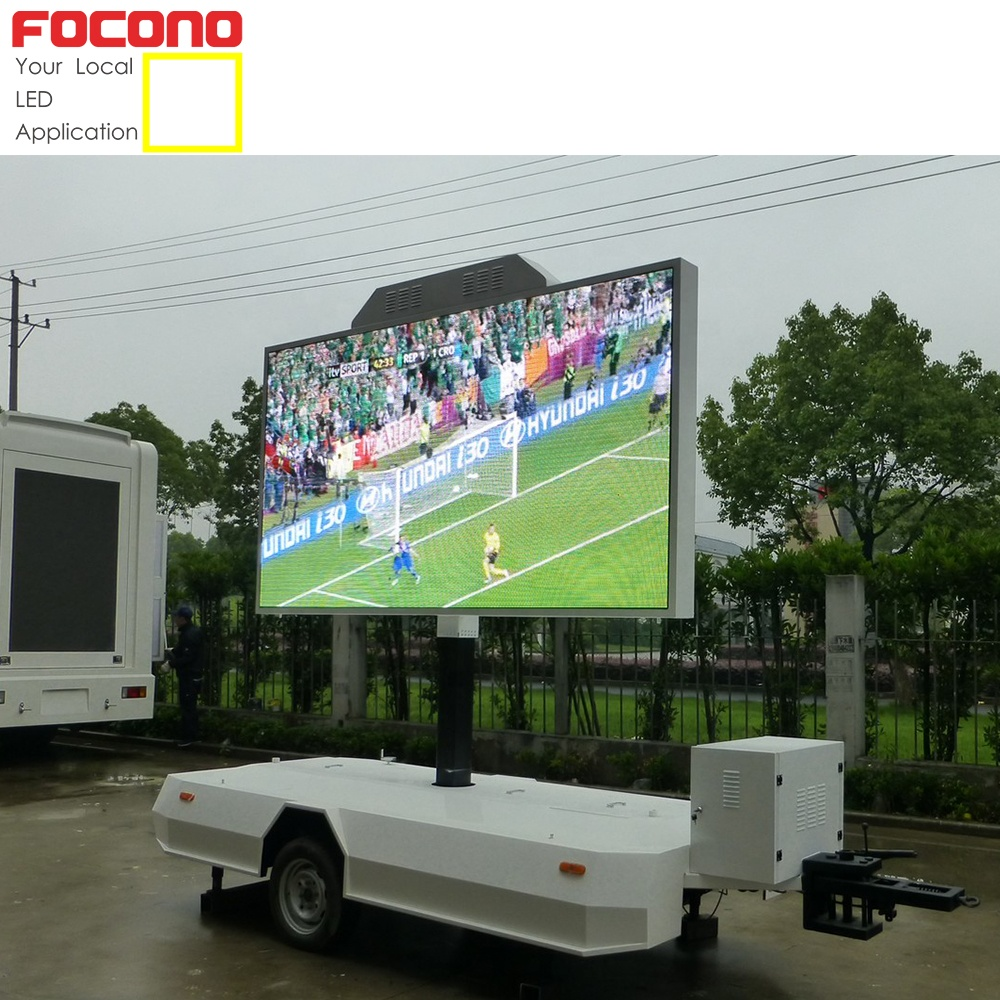 Pitch 8mm outdoor moving werbung lkw mobilen led billboard display