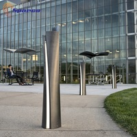 Sparco High quality bollard decoration hairline finished stainless steel garden led bollard light