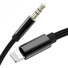 AUX <span class=keywords><strong>Kabel</strong></span> Audio 3.5 Mm Jack <span class=keywords><strong>Kabel</strong></span> Speaker untuk iPhone 7 8 X XS Max XR <span class=keywords><strong>Mobil</strong></span> Headphone Headset aux Converter Jack Audio
