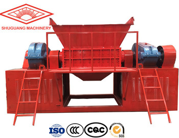 mini plastic shredder /  wood pallet shredder machine small metal shredder for sale