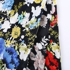 Great quality muse 100% polyester plain woven big flower printed georgette fabric
