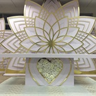 Billionplus furniture golden Acrylic flower wedding stage backdrop stand decoration