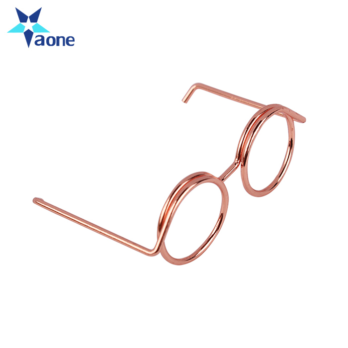 Customized Gold Rose Gold Glasses Shaped Paper Clips Funny Kawaii Bookmark Office School Stationery Marking Clip