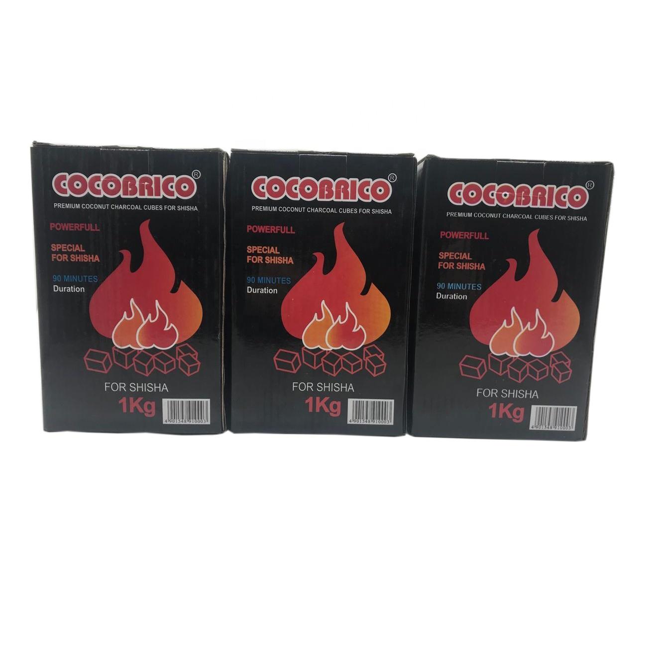 HQHC0025 HongQiang high quality black cube shisha coconut charcoal for hookah