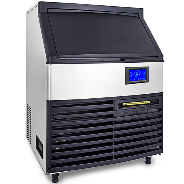 Ice Cube Maker Machine 65Kg//144Lbs Commercial Auto-control 110V Timing Cleaning