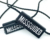 Garment Hang Tag Plastic String Seal Custom Embossed Name Logo Nylon Hangtag Lock Tag for Clothing