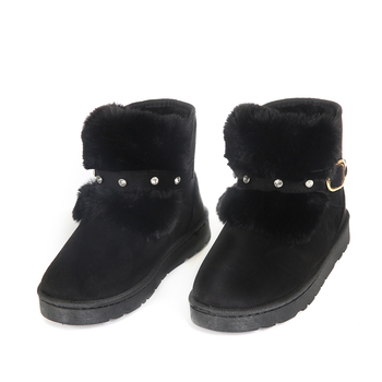Factory Price Custom OEM Snow Boots Diamond Buckle Decoration Ladies Girl Snow Boots Shoes