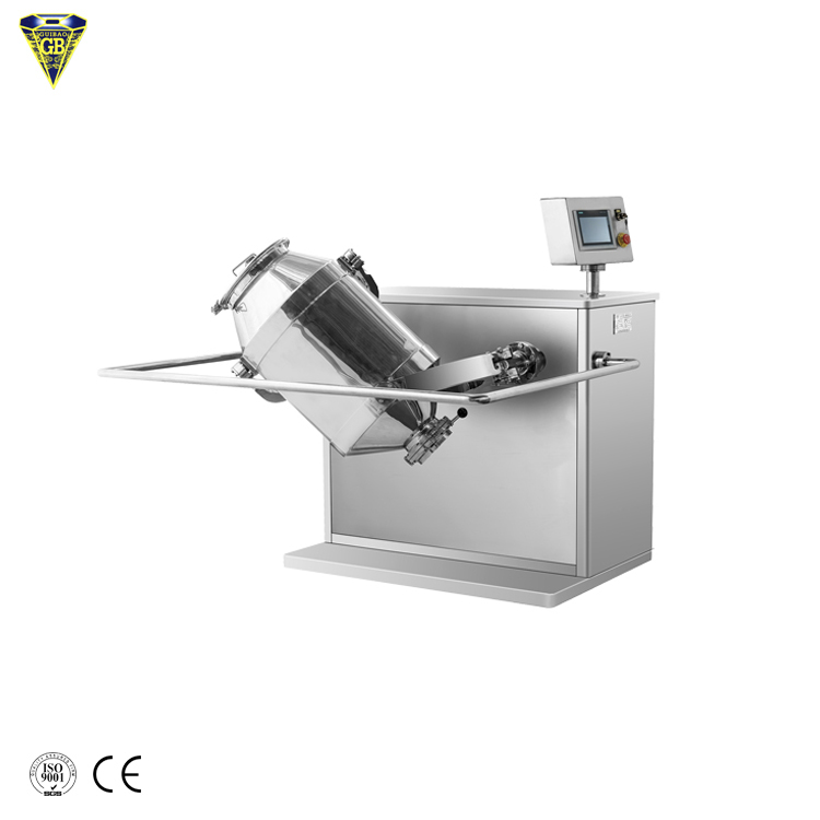50 kg 100 kg powder 3 dimensional cubic mixer blender machine