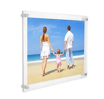 11x14 Inches Acrylic Photo Frame, Acrylic Wall Mount Picture Frames