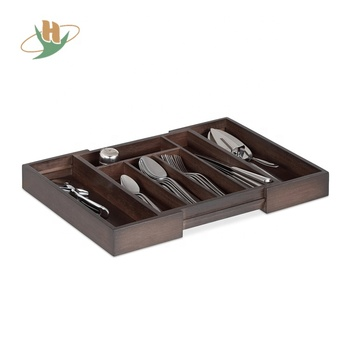 Adjustable Utensils Expandable Dividers Kitchen Bamboo Drawer Organizer Wood Cutlery Tray With Color Painting Buy Bamboo Expandable Kitchen Drawer