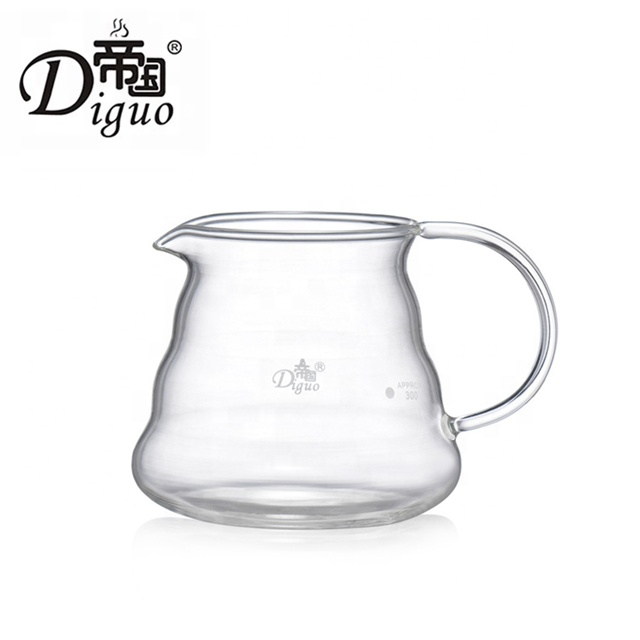 Diguo 360ml 12Oz Pyrex <strong>Glass</strong> Pour Over Coffee Tea Maker Brew Pot Set