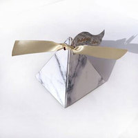 Royal candy box marble pattern European wedding triangle candy package fancy boxes
