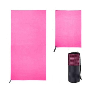 Portable super absorbent quick dry microfiber sport towel for running with mesh bag