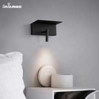 Savia Living Room Wall Lamp 3W 3000K warm white usb wall light charging home&hotel led bedside reading lamp