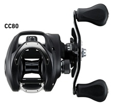 <span class=keywords><strong>DAIWA</strong></span> CC80 Baitcasting Angeln Reel 7 kg Power Super Leichte 6,8: 1 köder Casting Angelrolle One-way Clutch Magnetische Bremse