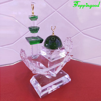 2019 Latest Crystal Mosque Craft For Islamic Religious Gifts