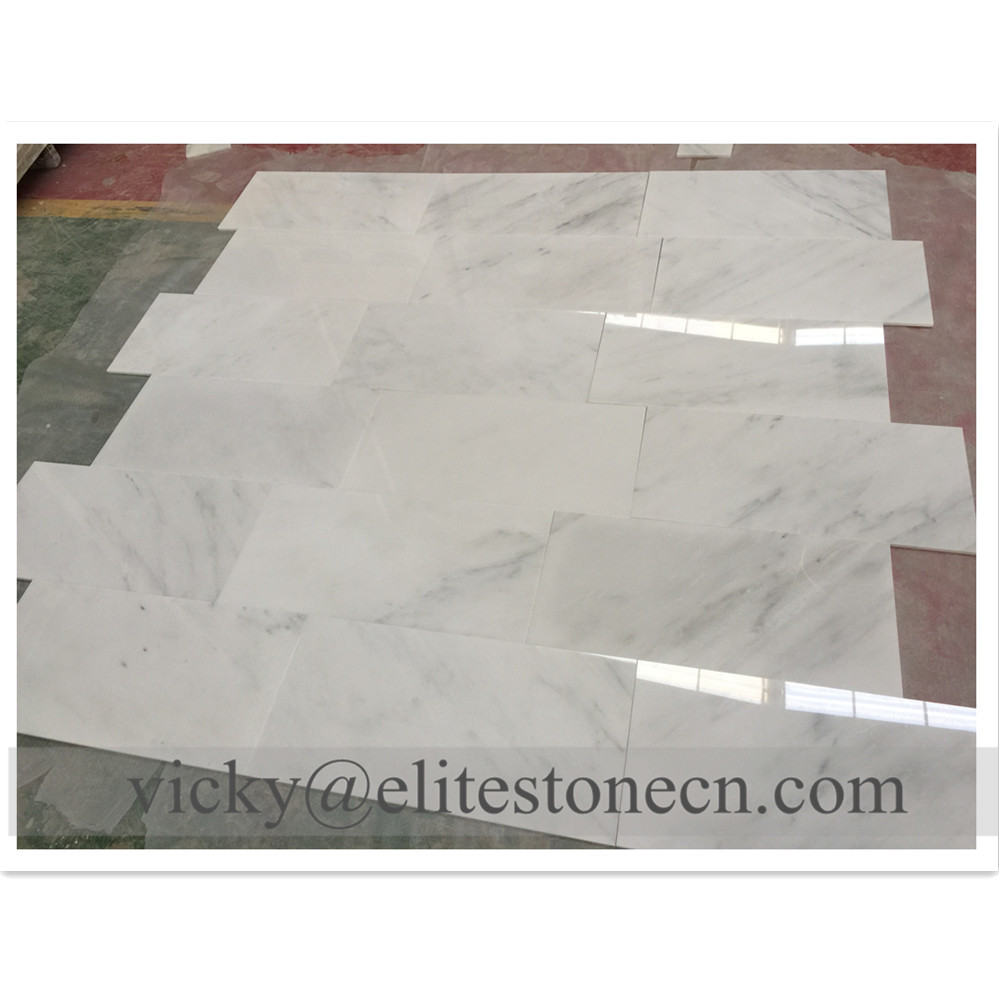100% Natural Stone <strong>White</strong> marble Oriental <strong>White</strong> <strong>tiles</strong> 24x24 for flooring