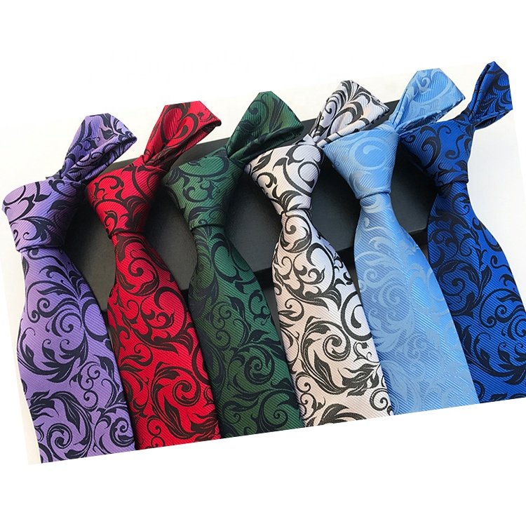 Hot Sale Dark Color Floral Floret Flower Necktie And Cheap Popular Polyester Knitted Mens <strong>Ties</strong>