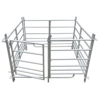 "1800mm (6' 0"") galvanised finish, 900mm (3'0"") tall X 8 Sheep Hurdle"