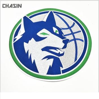 Jelas Serigala Logo Hewan Bordir Kualitas Stiker Untuk Jaket Buy