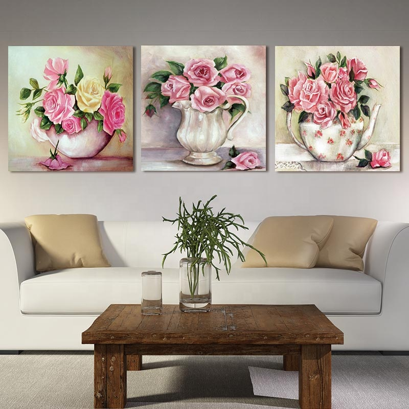 canvas art work chinese flower painting painted picture painting and decorating painting picture